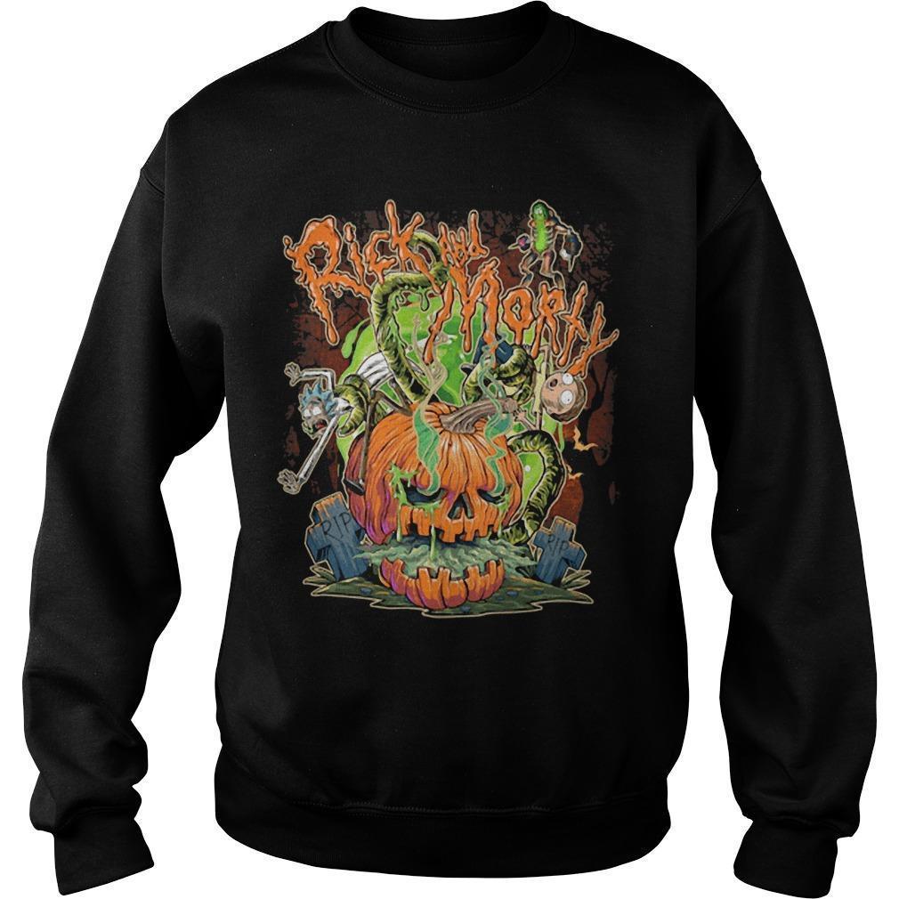 Halloween Pumpkin Rick And Morty Sweater