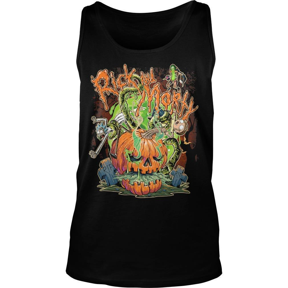 Halloween Pumpkin Rick And Morty Tank Top