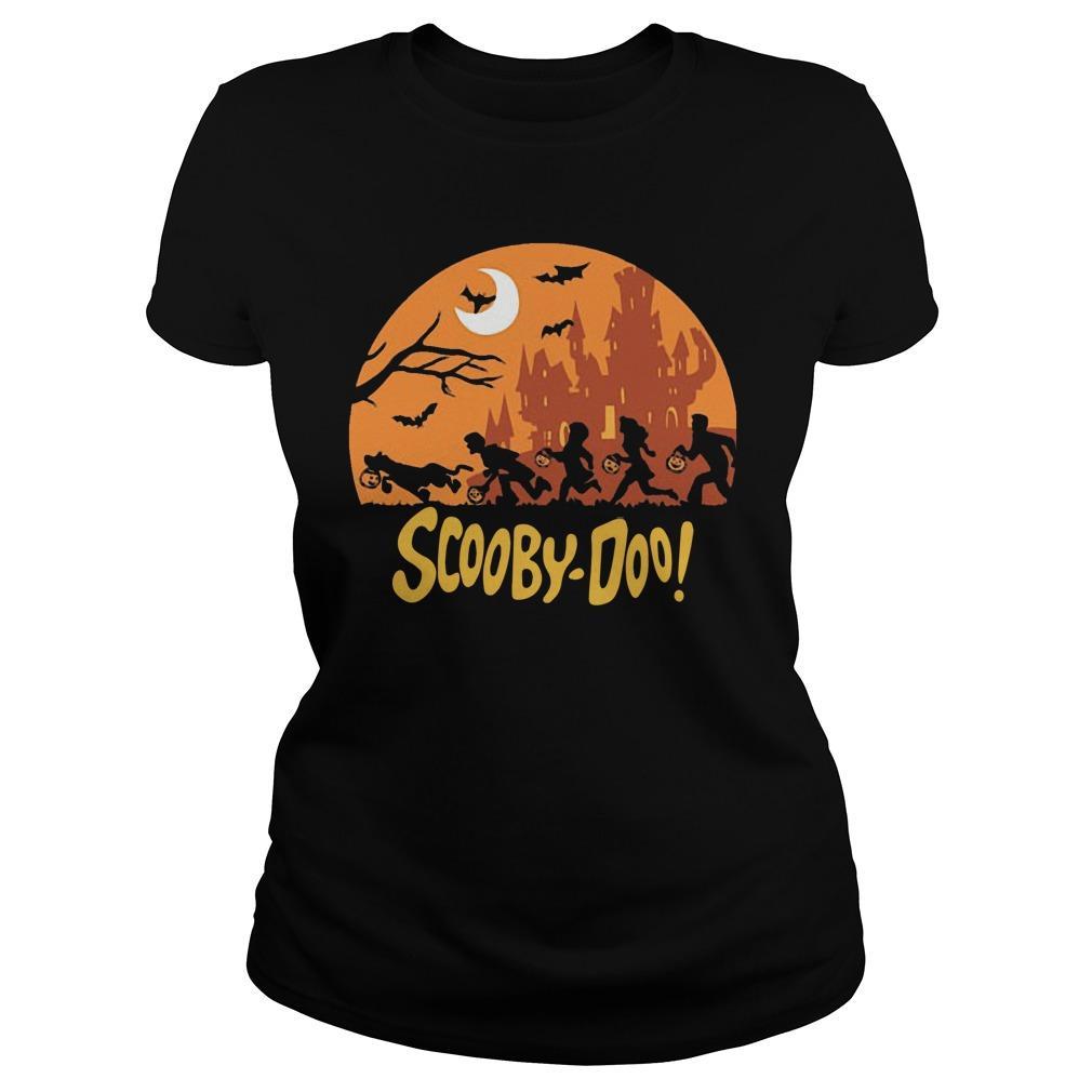Halloween Running Scooby Doo Tank Top