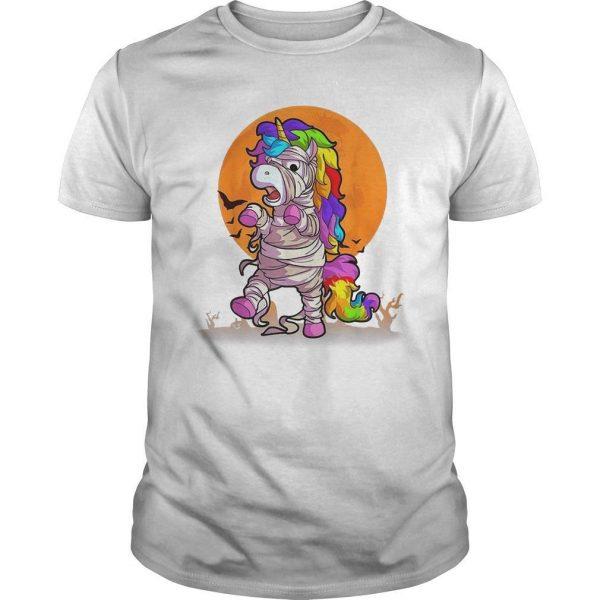 Halloween Unicorn Mummy Shirt