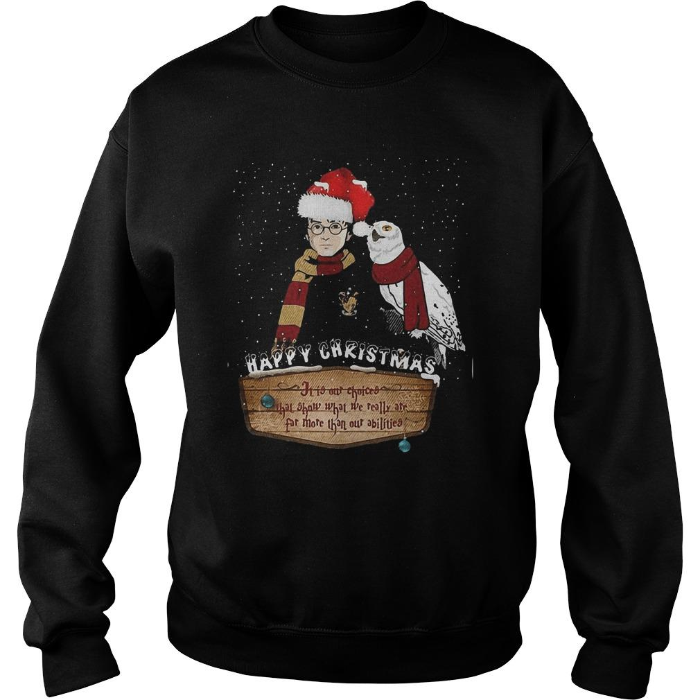 Happy Christmas It Is Our Choices Sweater