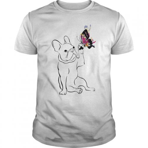 Happy Frenchie Touching Color Butterfly Shirt