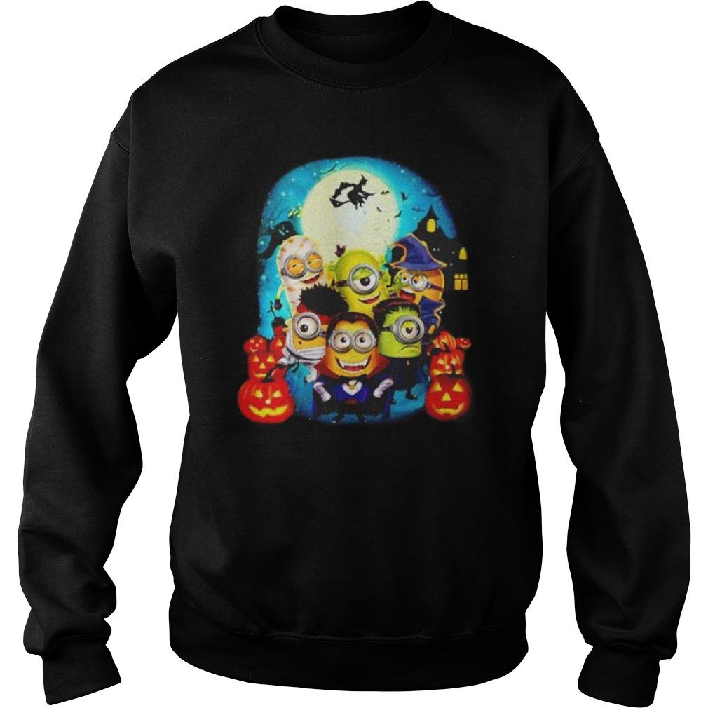 Happy Halloween Minions Wearing Costume Sweater