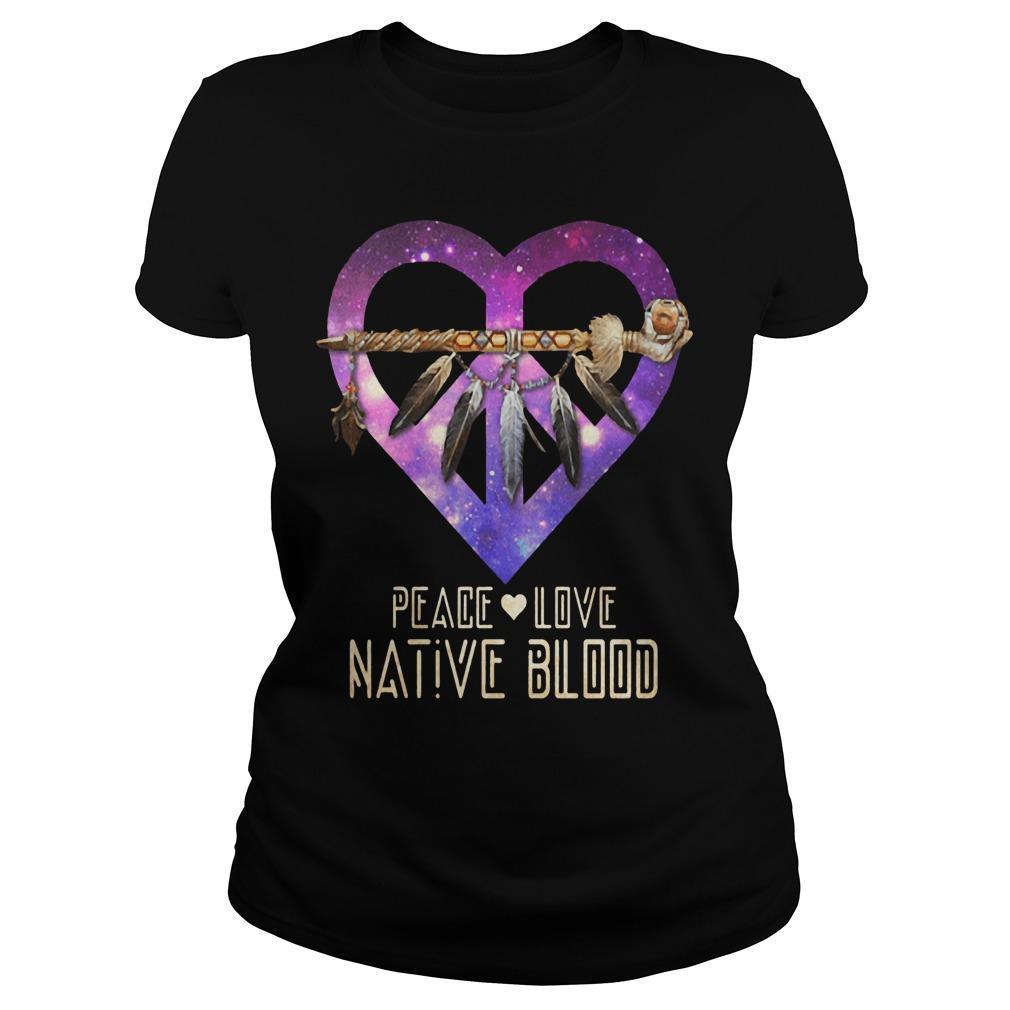 Heart Peace Love Native Blood Longsleeve