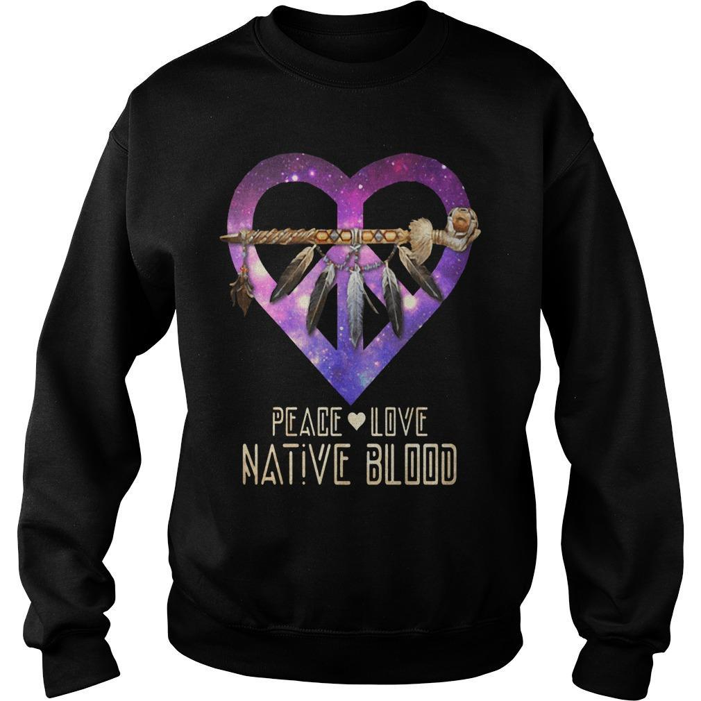 Heart Peace Love Native Blood Sweater