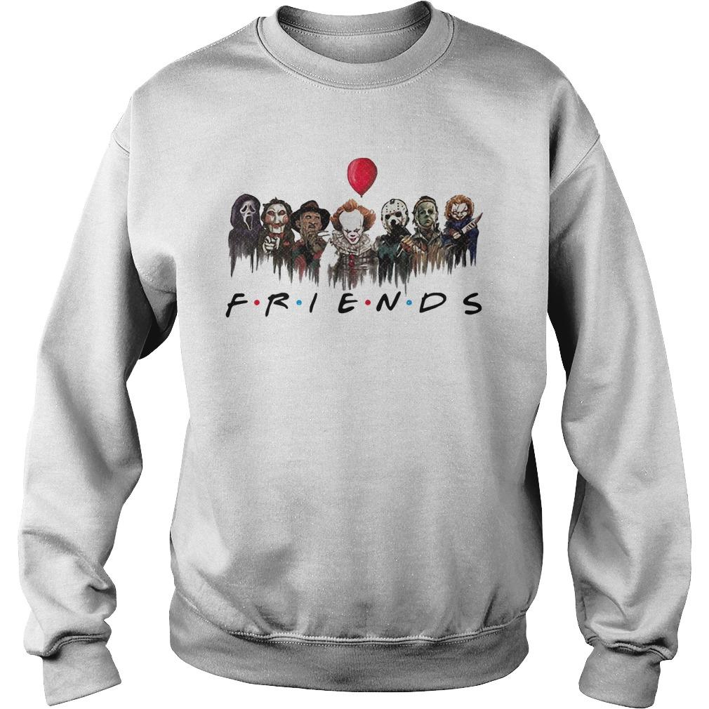 Horror Characters Pennywise Friends Sweater