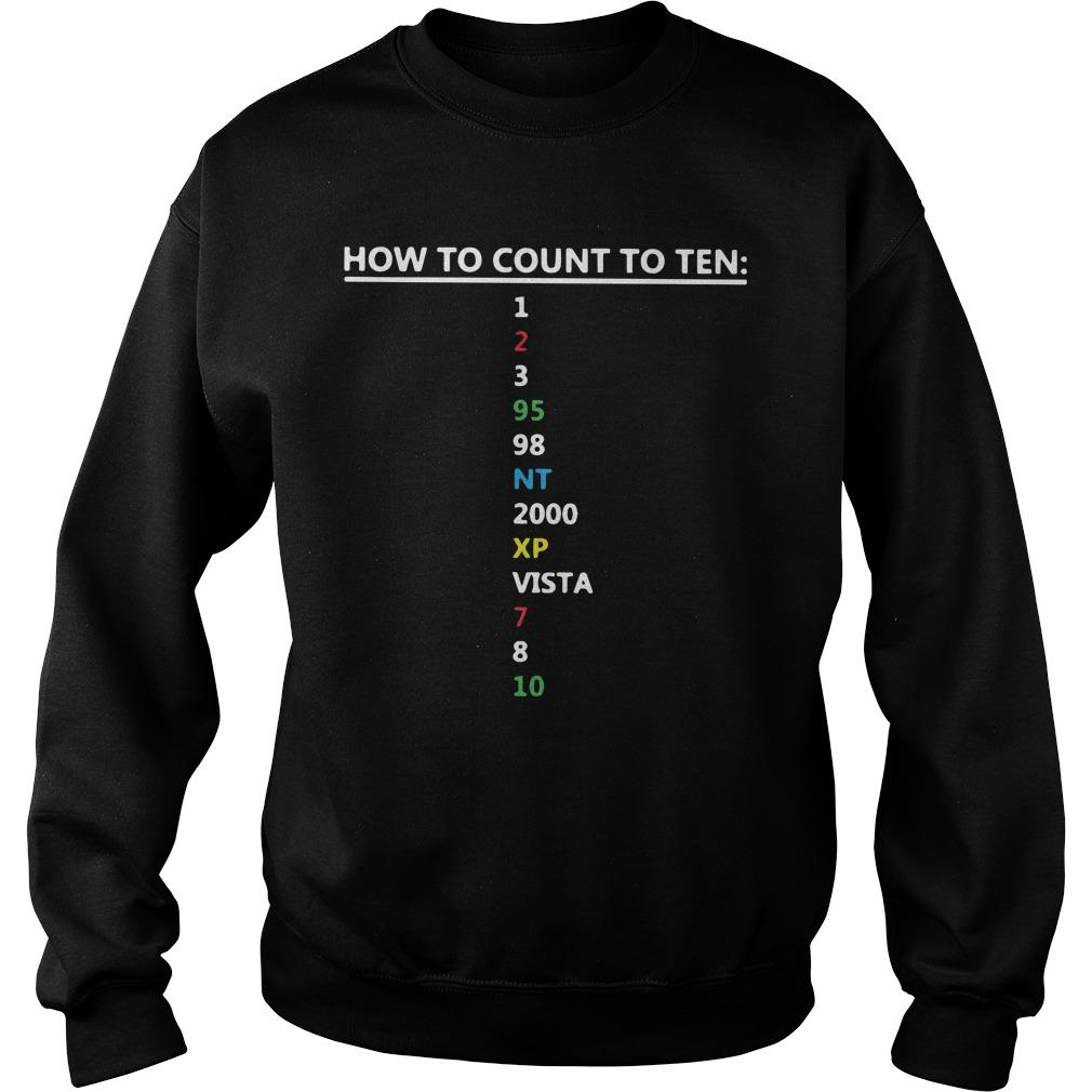 How To Count To Ten 1 2 3 95 98 Nt 2000 Xp Vista 7 8 10 Sweater
