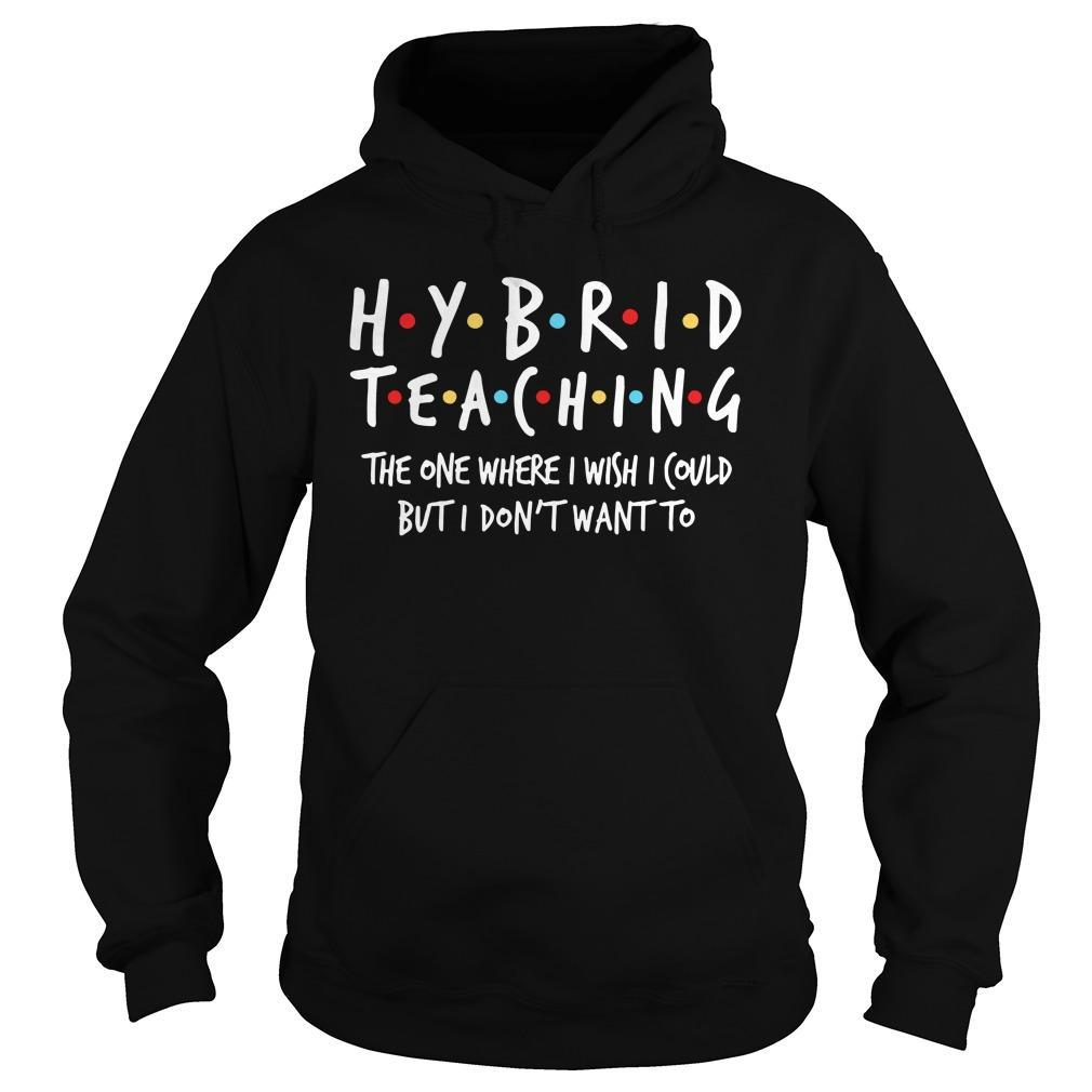 Hybrid Teaching The One Where I Wish I Could But I Don't Want To Hoodie