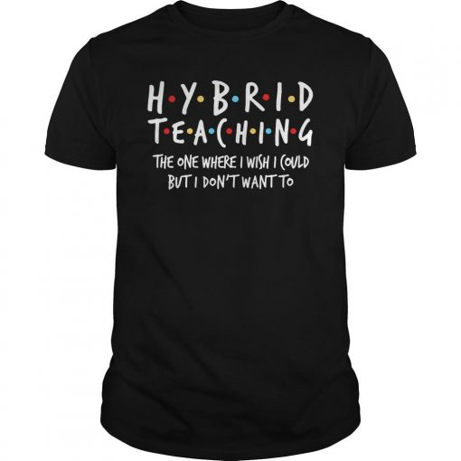 Hybrid Teaching The One Where I Wish I Could But I Don't Want To Shirt