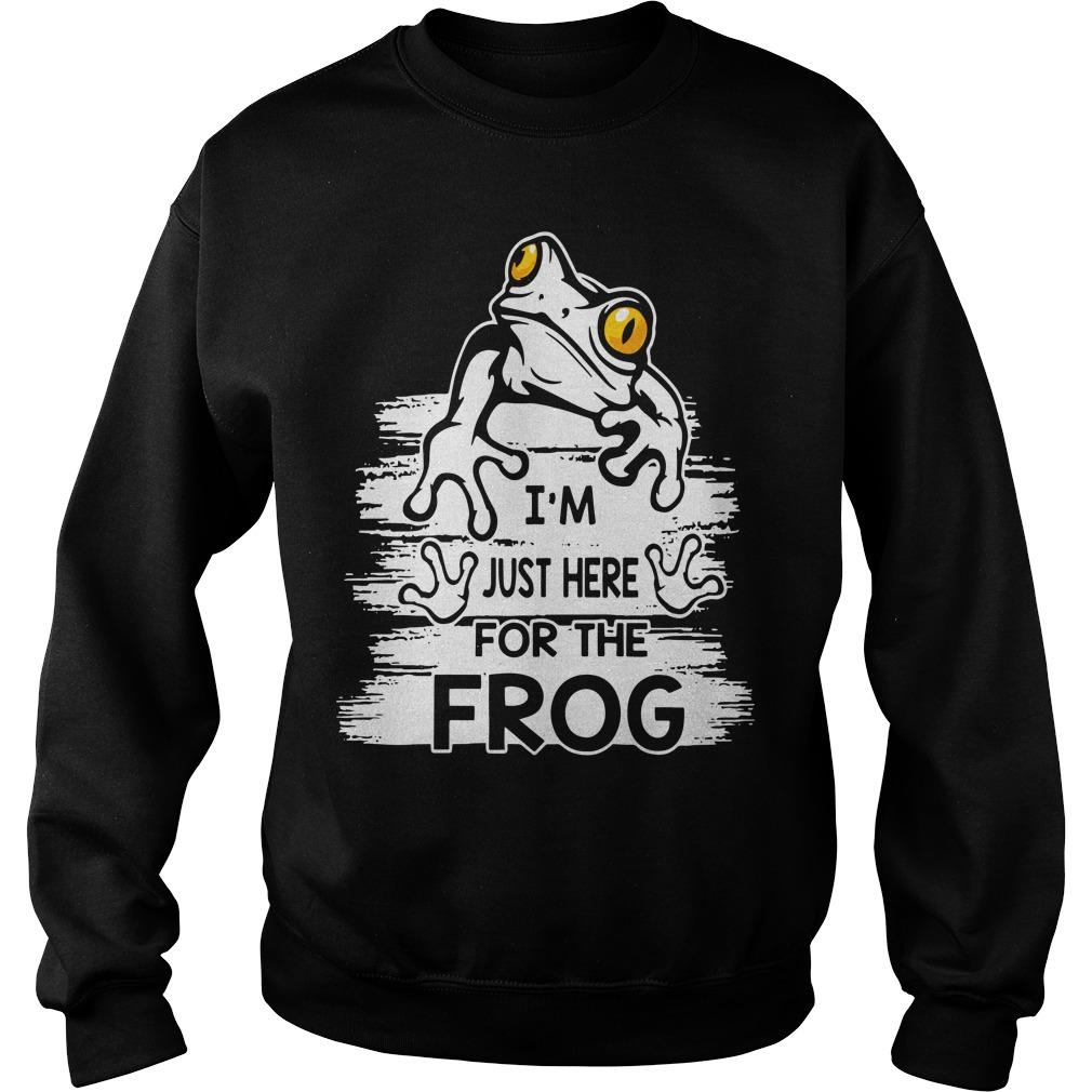 I'm Just Here For The Frog Sweater