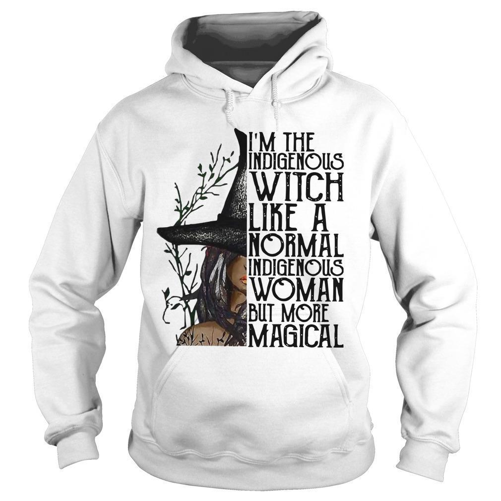 I'm The Indigenous Witch Like A Normal Indigenous Woman But More Magical Hoodie