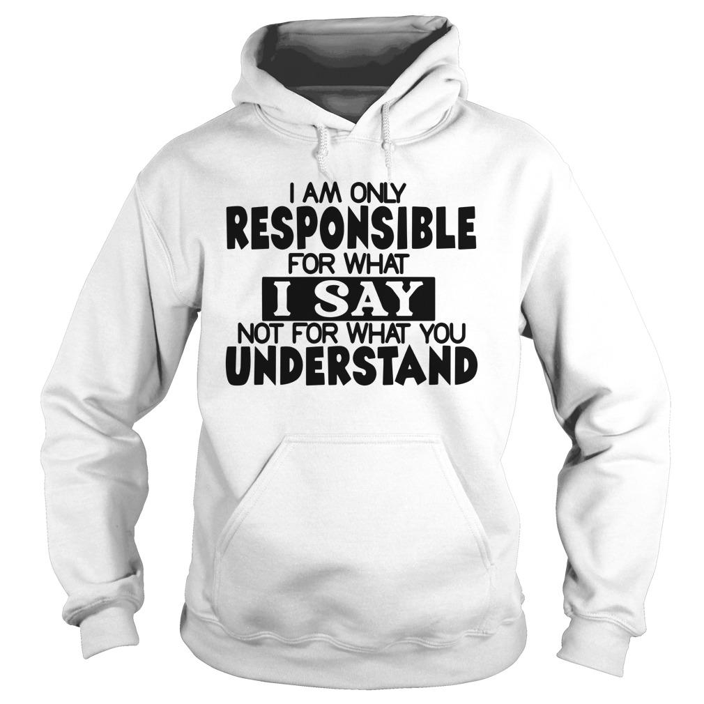 I Am Only Responsible For What I Say Not For What You Understand Hoodie