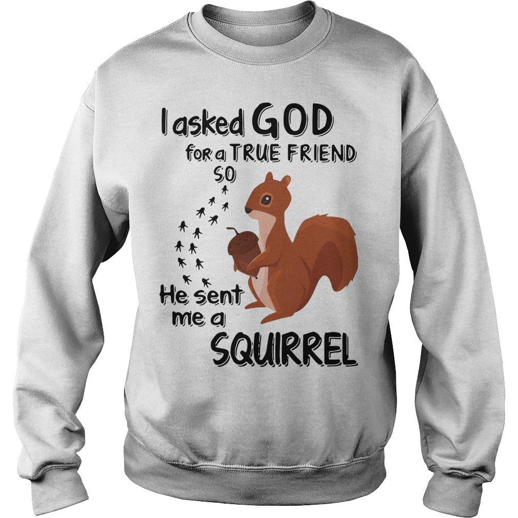 I Asked God For A True Friend So He Sent Me A Squirrel Sweater