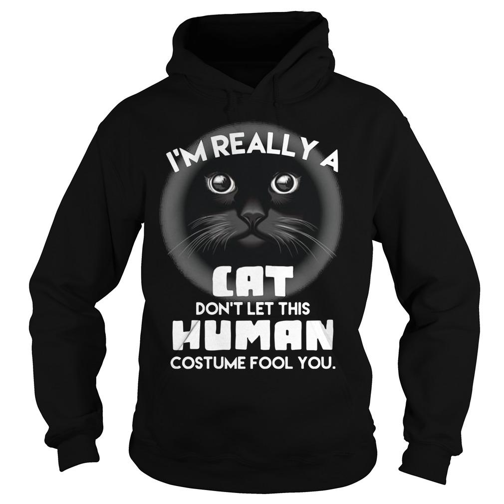 I'm Really A Cat Don't Let This Human Costume Fool You Hoodie