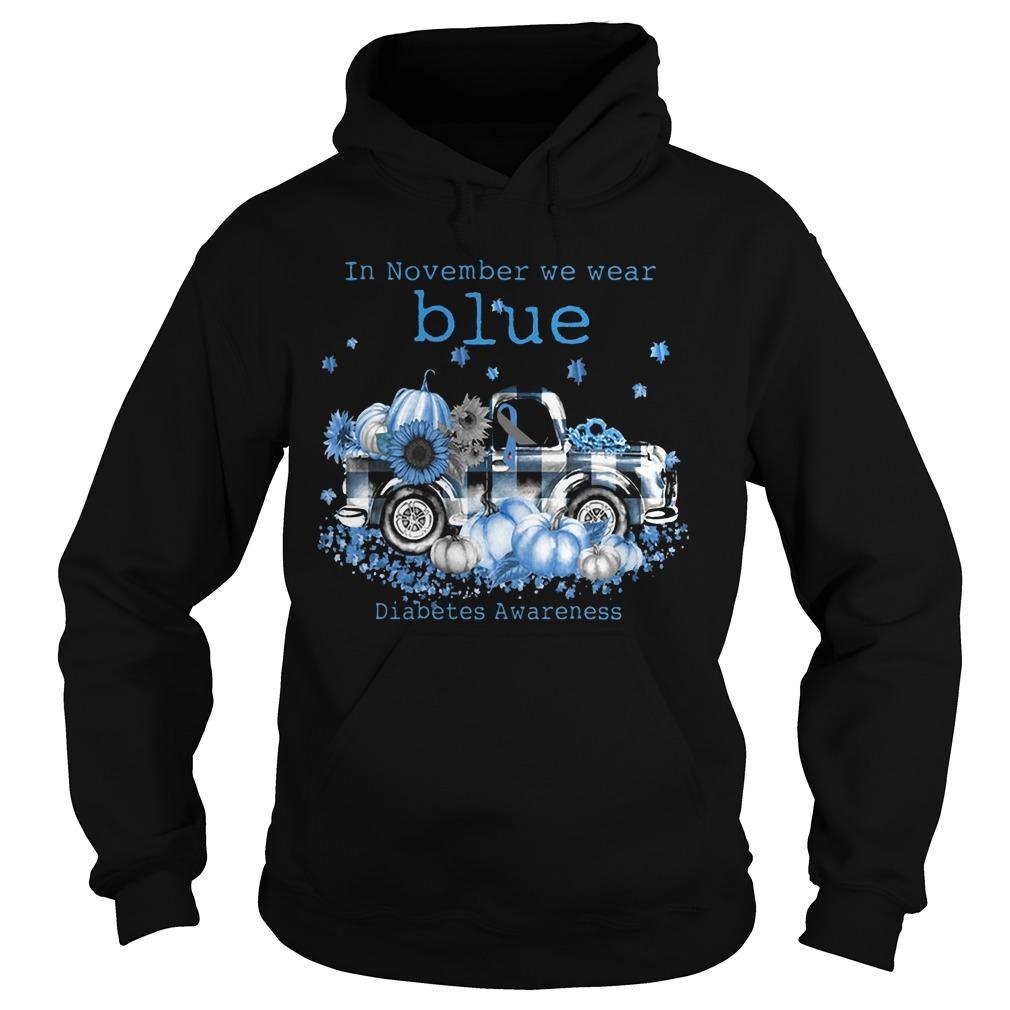 In November We Wear Blue Diabetes Awareness Hoodie