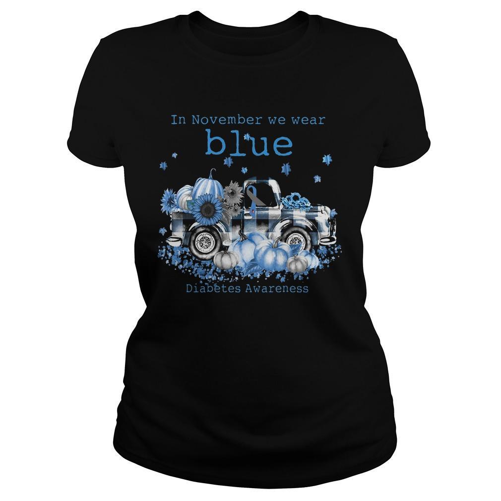 In November We Wear Blue Diabetes Awareness Longsleeve