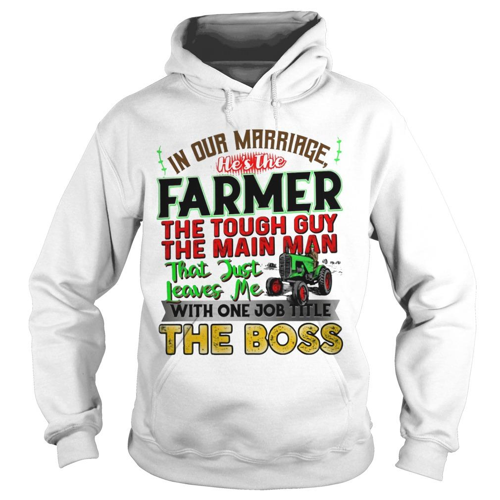 In Our Marriage He's The Farmer The Tough Guy The Main Man Hoodie