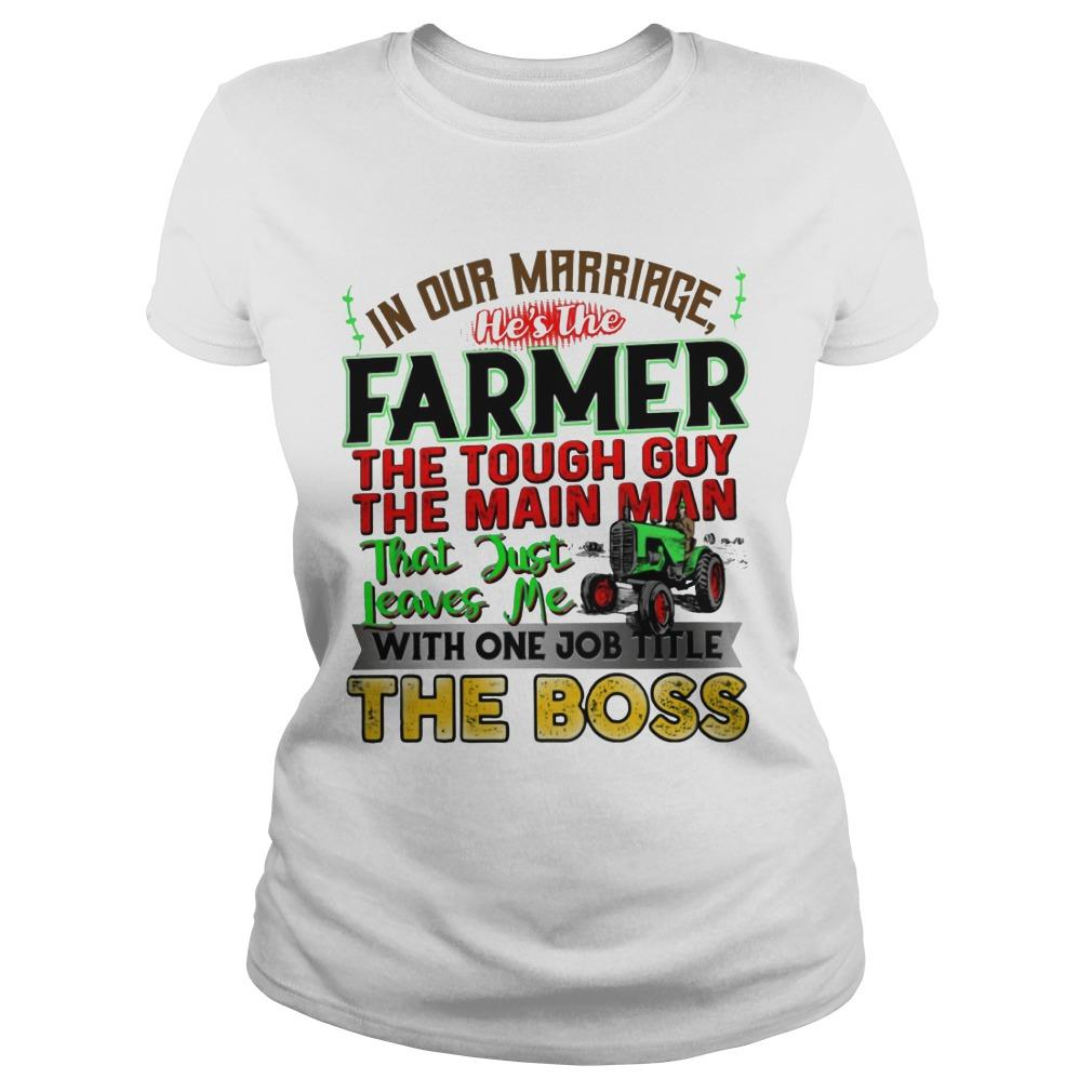 In Our Marriage He's The Farmer The Tough Guy The Main Man Longsleeve