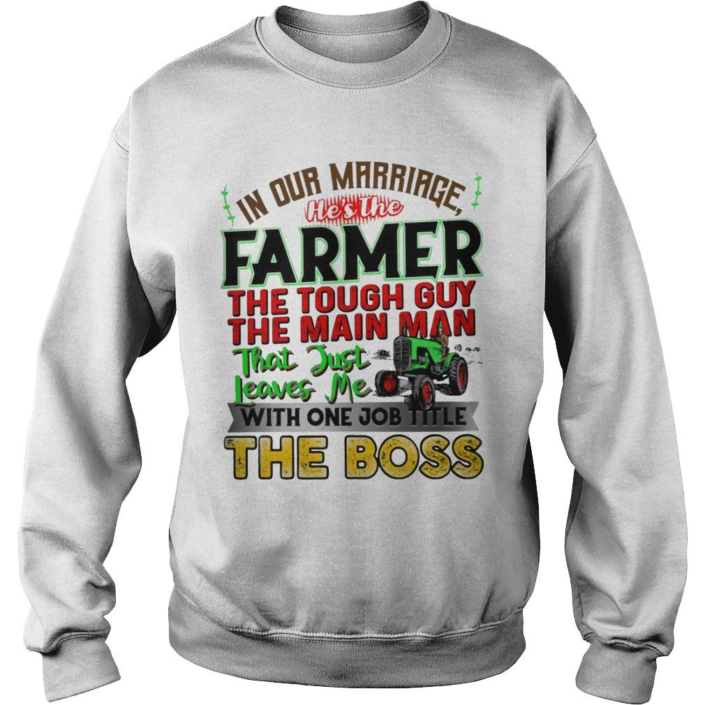 In Our Marriage He's The Farmer The Tough Guy The Main Man Sweater