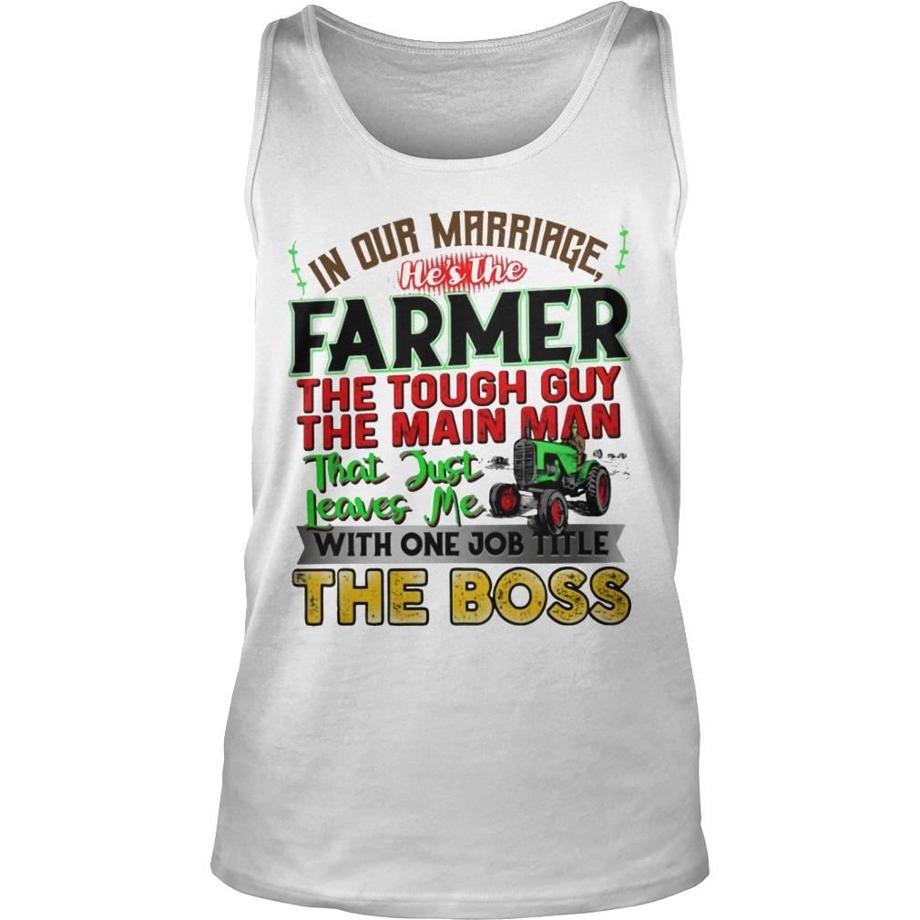 In Our Marriage He's The Farmer The Tough Guy The Main Man Tank Top