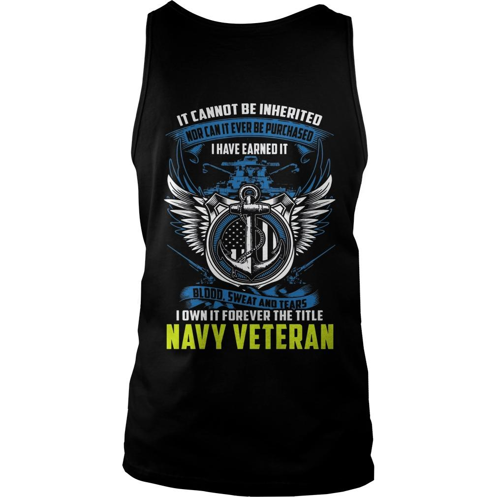 It Cannot Be Inherited Nor Can It Ever Be Purchased Tank Top