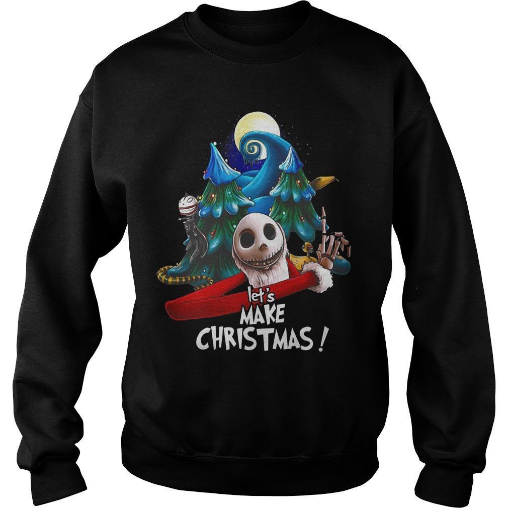 Jack Skellington Let's Make Christmas Sweater