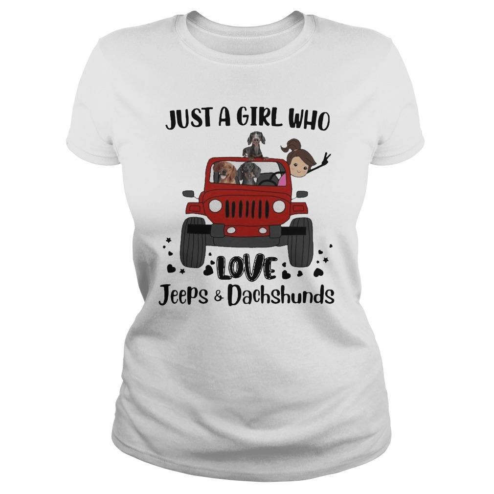 Just A Girl Who Love Jeeps And Dachshunds Longsleeve