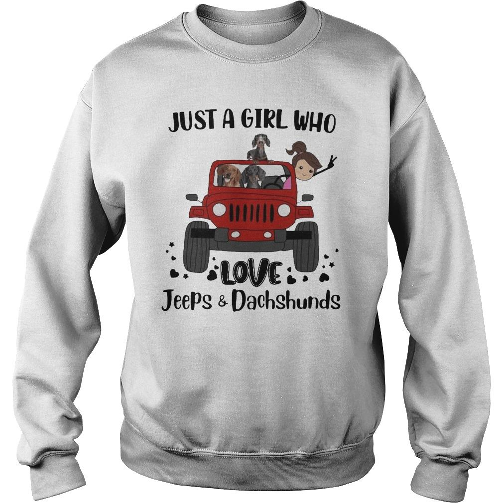 Just A Girl Who Love Jeeps And Dachshunds Sweater