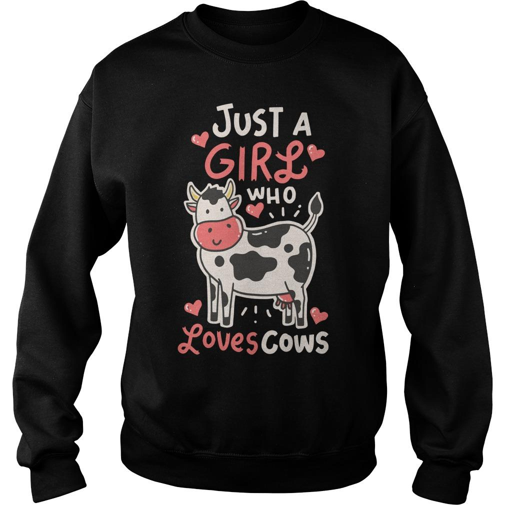 Just A Girl Who Loves Cows Sweater