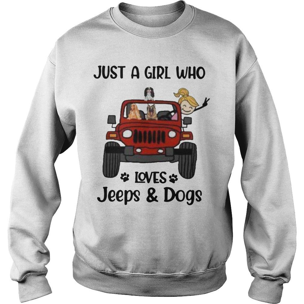 Just A Girl Who Loves Jeeps And Dogs Sweater
