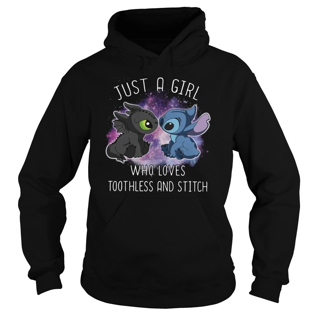 Just A Girl Who Loves Toothless And Stitch Hoodie