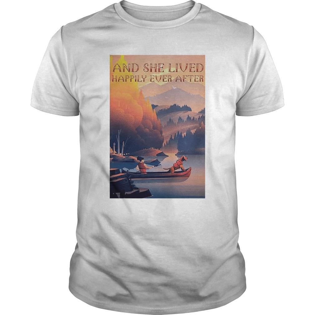 Kayak Dogs And She Lived Happily Ever After Longsleeve
