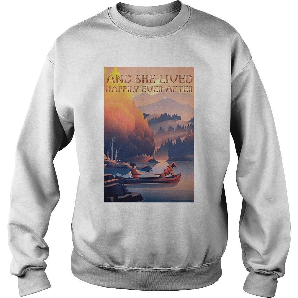 Kayak Dogs And She Lived Happily Ever After Sweater