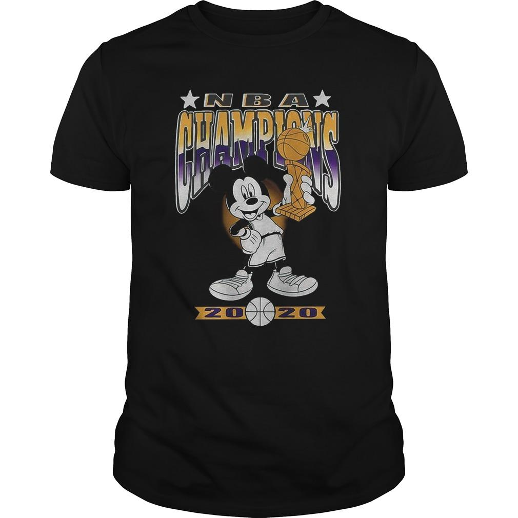 Lakers Mickey Mouse Nba Champions 2020 Longsleeve