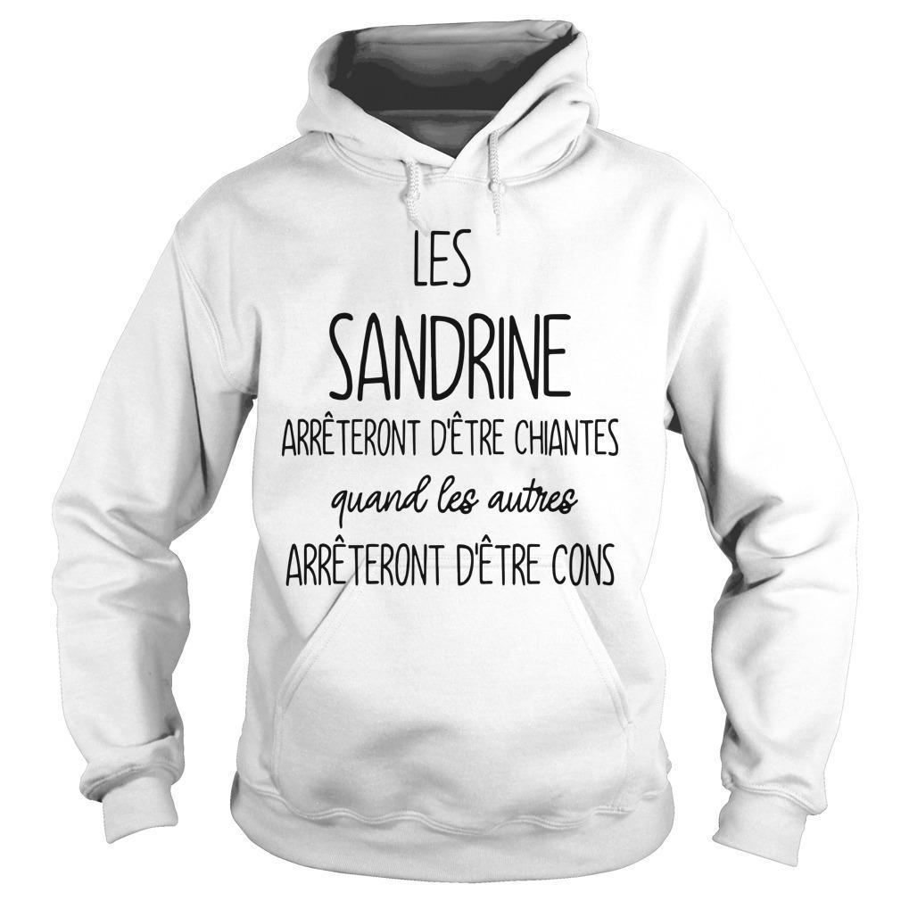 Les Sandrine Arrêteront D'être Chiantes Quand Les Autres Hoodie