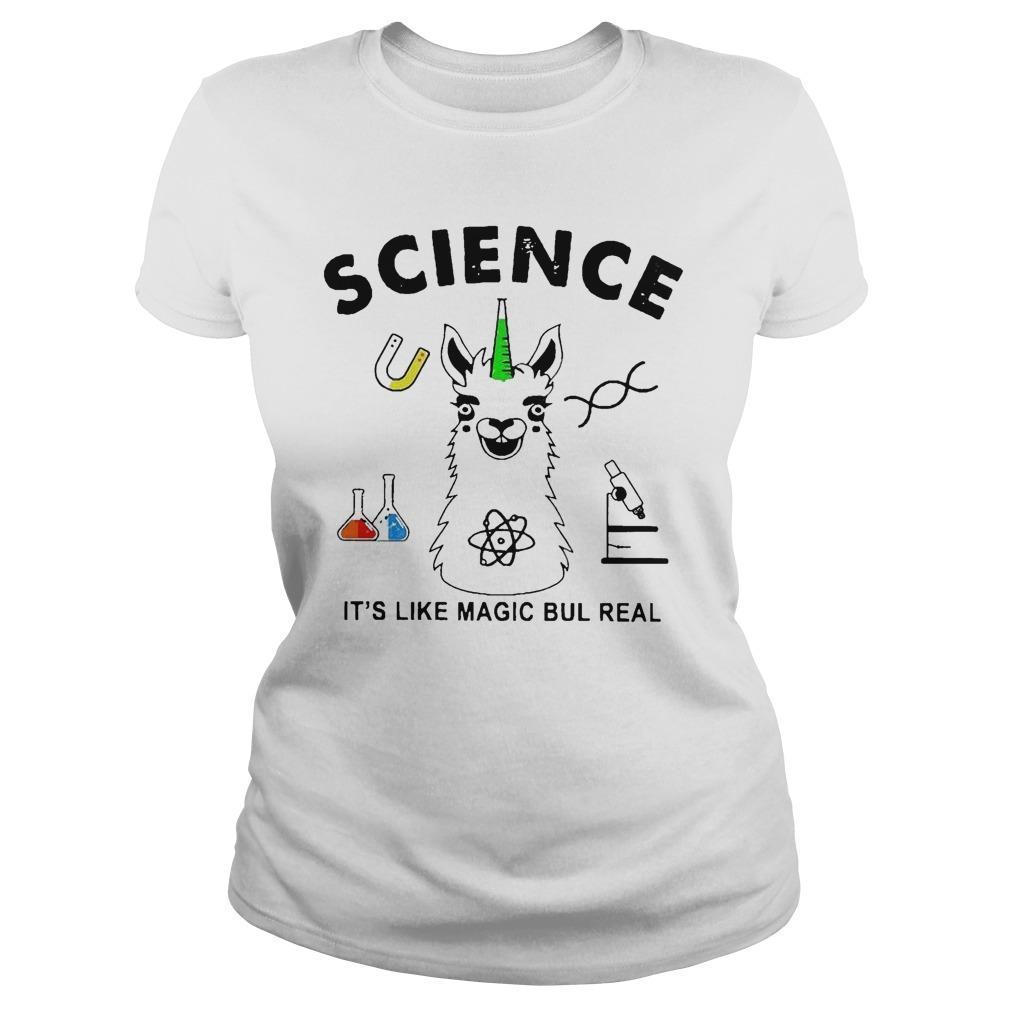 Llama Science It's Like Magic Bul Real Longsleeve