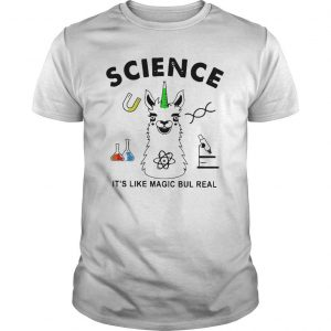 Llama Science It's Like Magic Bul Real Shirt