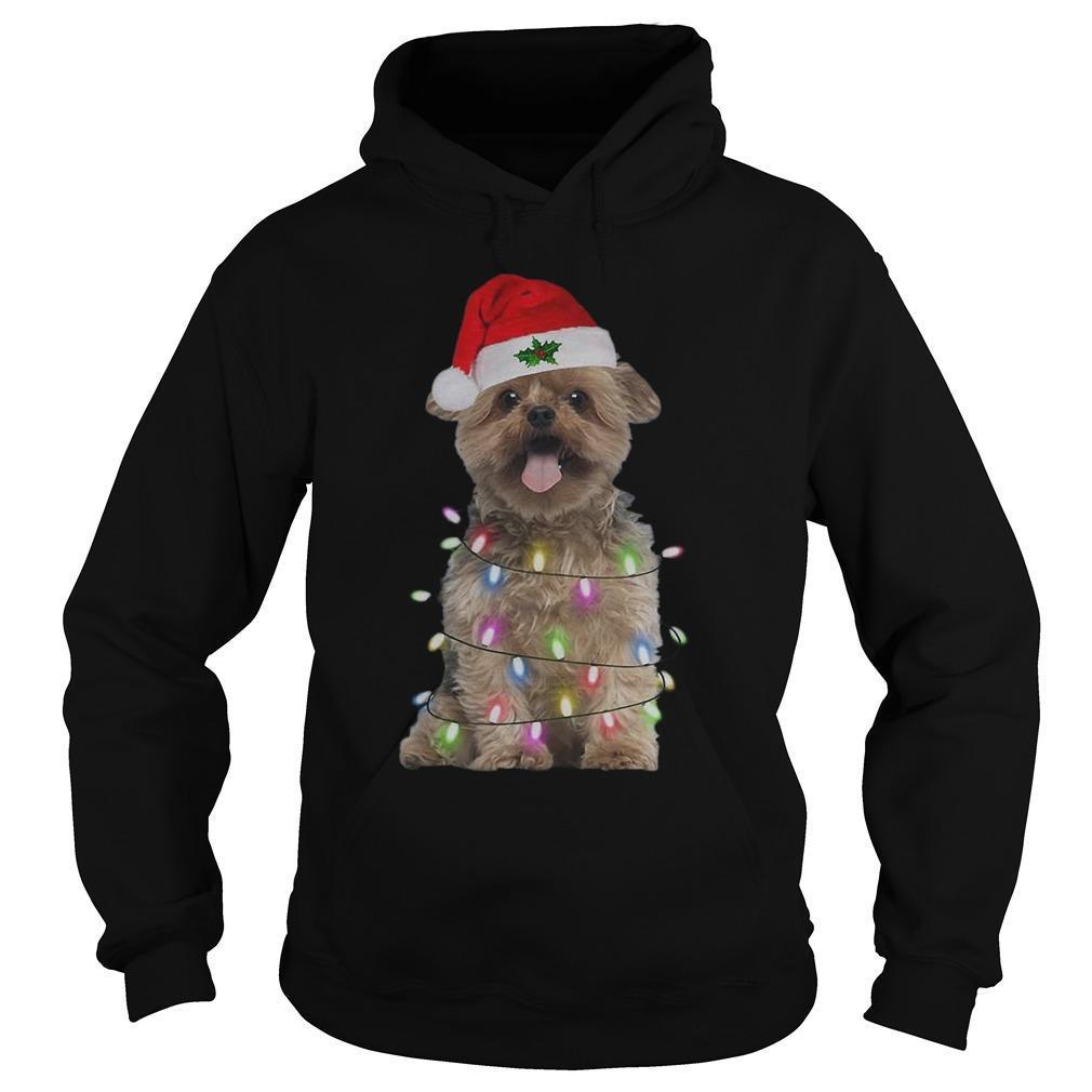 Merry Christmas Santa Norfolk Terrier Hoodie
