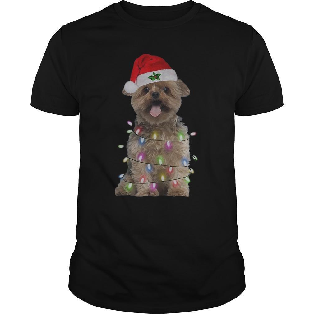 Merry Christmas Santa Norfolk Terrier Longsleeve