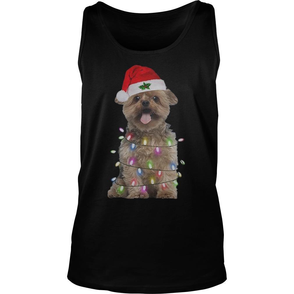 Merry Christmas Santa Norfolk Terrier Tank Top
