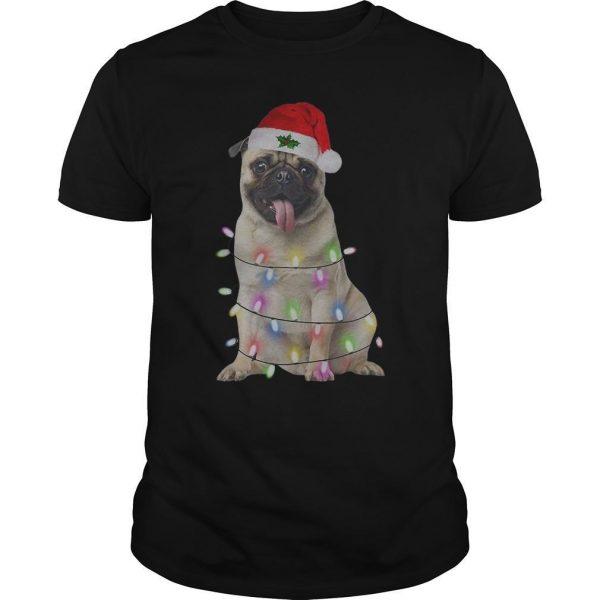 Merry Christmas Santa Pug Shirt