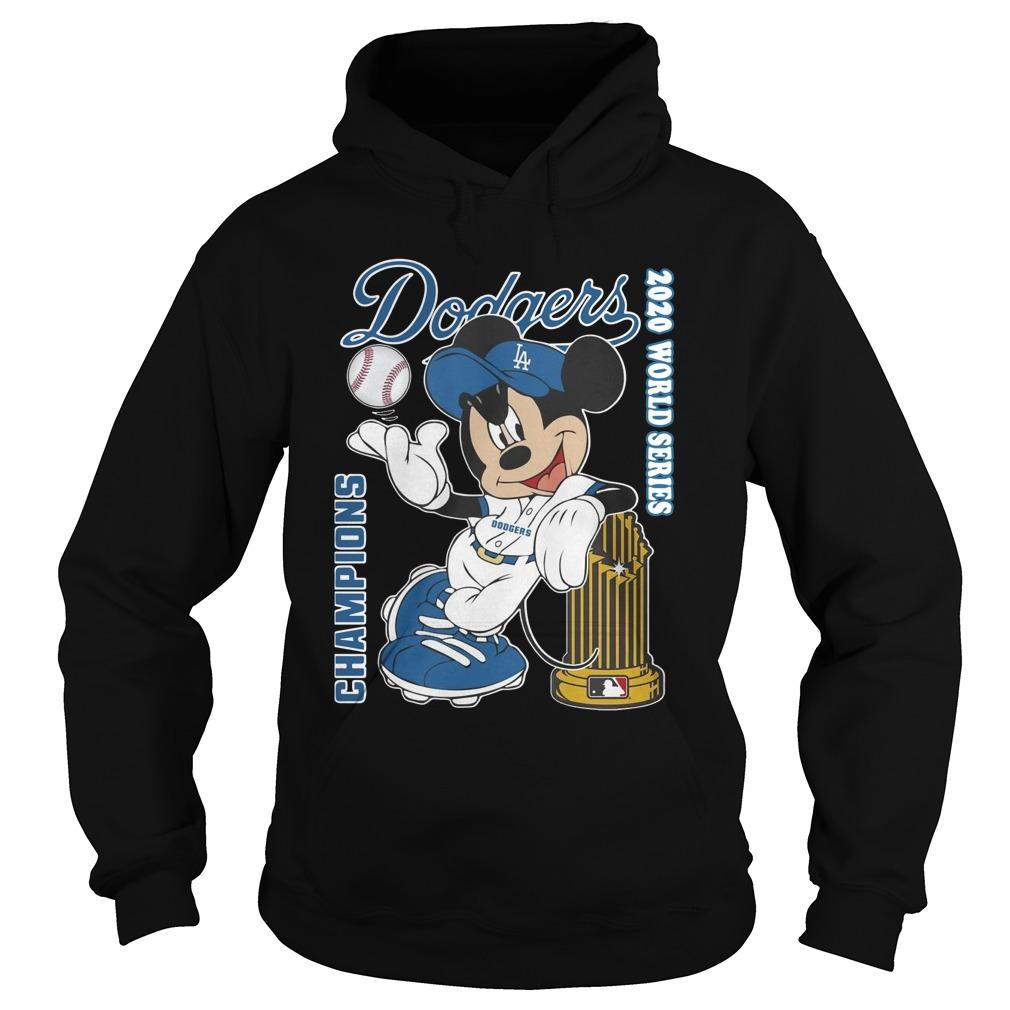 Mickey Dodgers 2020 World Series Champions Hoodie