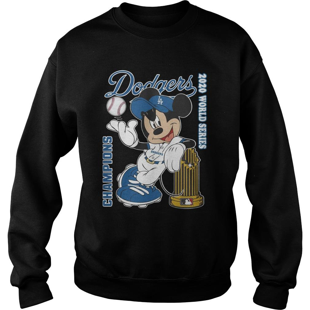 Mickey Dodgers 2020 World Series Champions Sweater