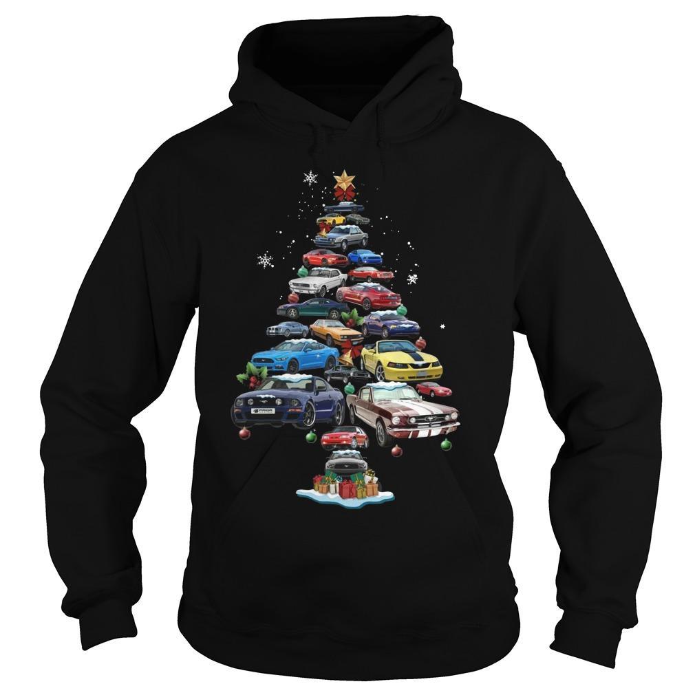 Mustang Christmas Tree Hoodie