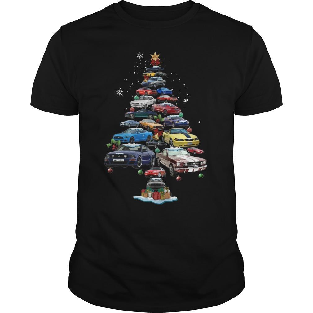 Mustang Christmas Tree Longsleeve