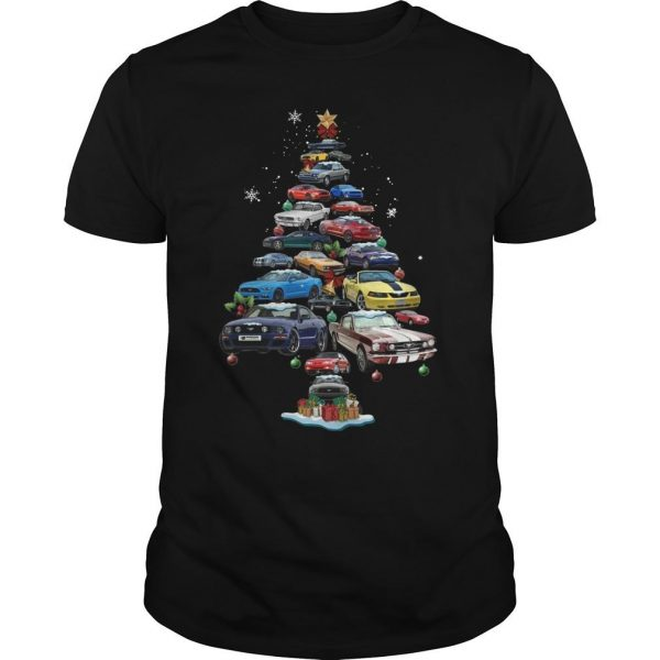 Mustang Christmas Tree Shirt