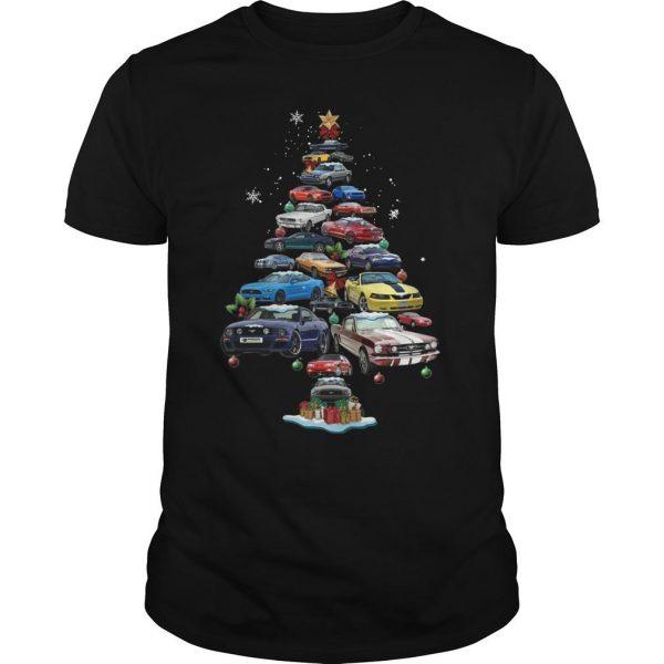 Mustang Christmas Tree Shirt
