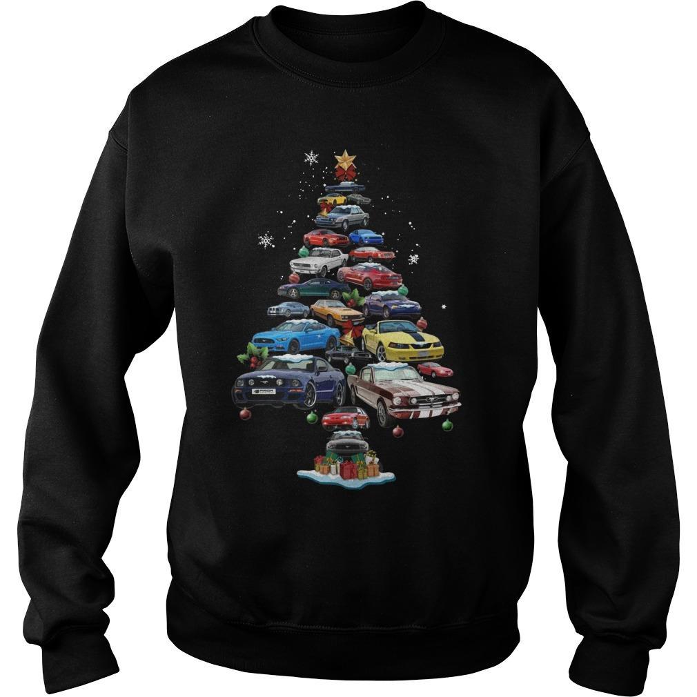 Mustang Christmas Tree Sweater