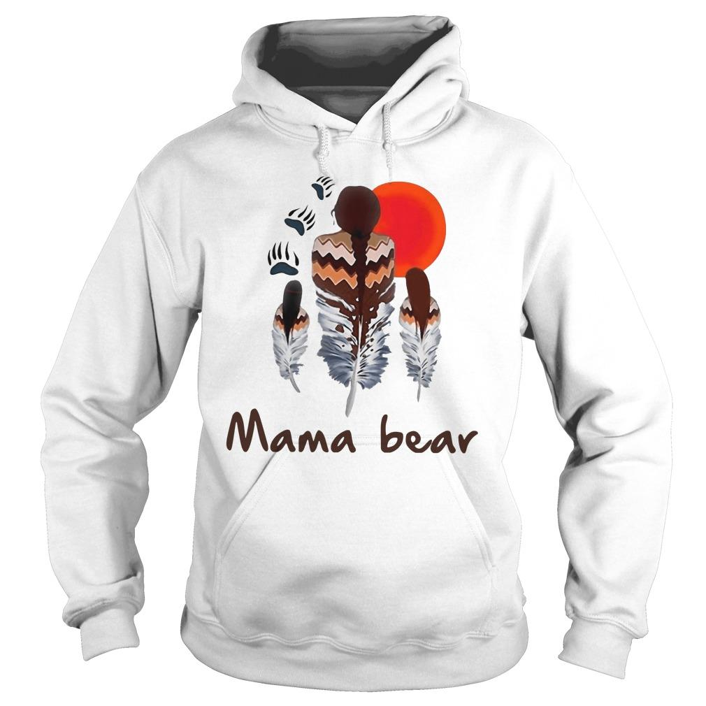 Native Feather Mama Bear Hoodie