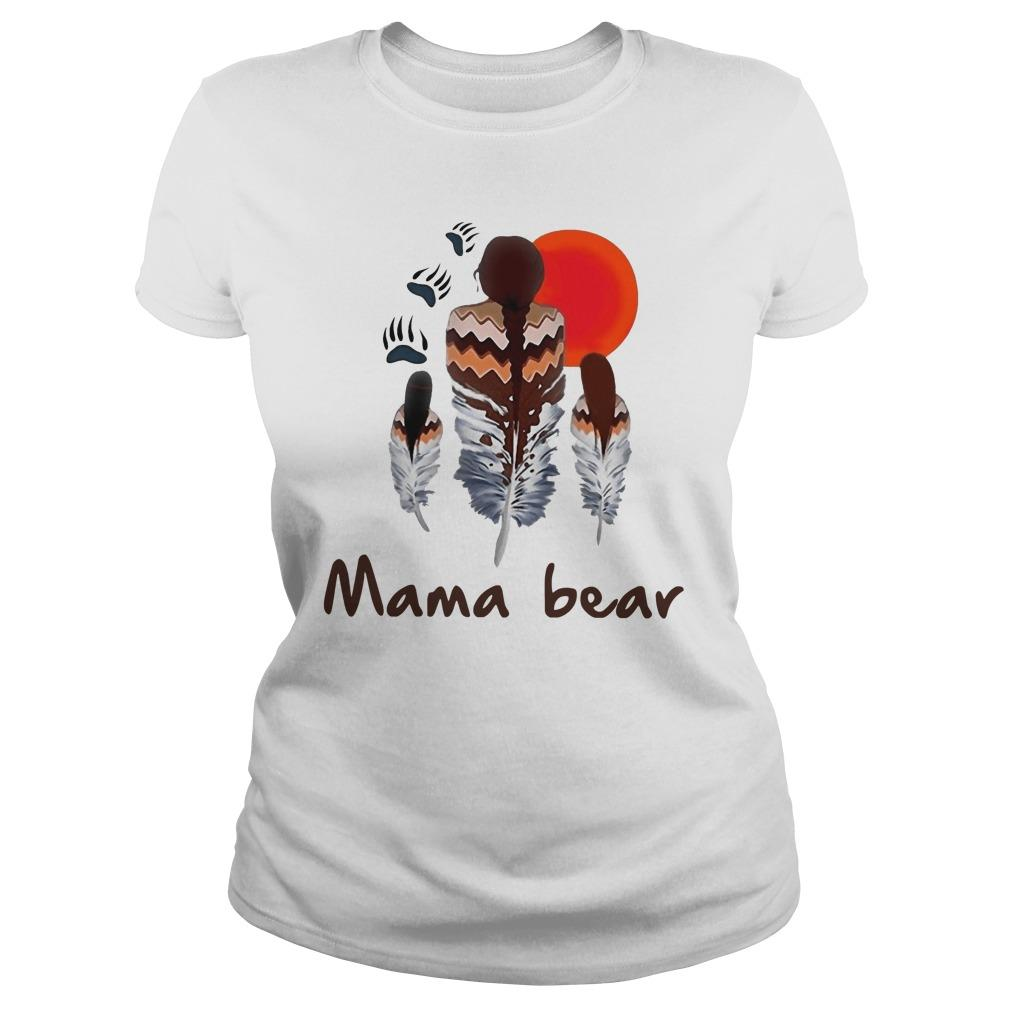 Native Feather Mama Bear Longsleeve
